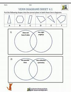 Free Printable Venn Diagram Math Worksheets