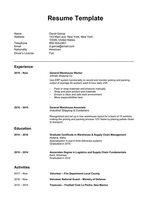60+ Free Word Resume Templates in MS Word   Download Docx   2020