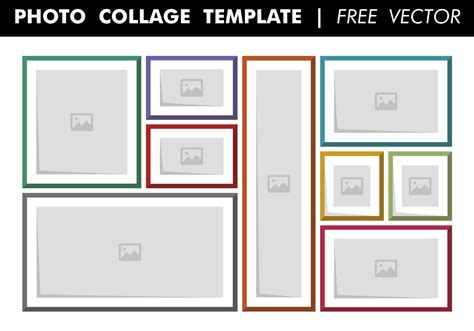 photo collage template  vector   vectors