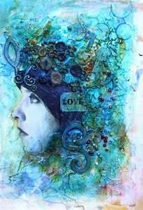 mixed media art journal page   Art Journalling   Pinterest