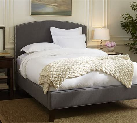 pottery barn headboards fillmore curved upholstered bed headboard pottery