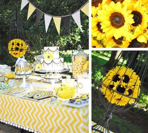 ideas  sunflower party themes  pinterest