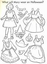 Halloween Paper Doll Dolls Coloring 1951 Printable Crafts Sheets Thepapercollector Things Collector Pages Neo sketch template