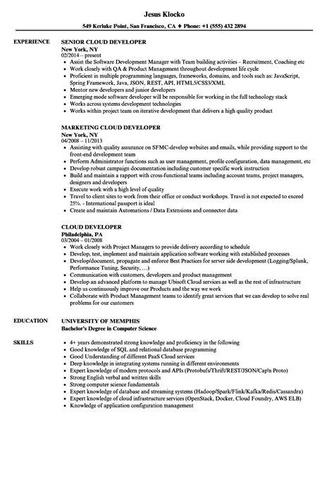 Microsoft Word Resume Sle by Microsoft Azure Developer Resume The Best Developer Images