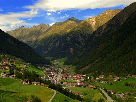 Summer Panorama Of The Ski Resort Of Solden, Austria
