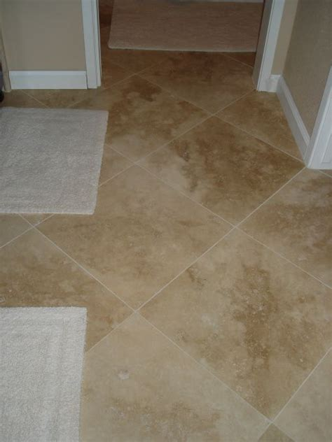 18x18 floor tile patterns floors tiles and diamond pattern 18x18 turkish travertine light walnut color 1 16th grout line