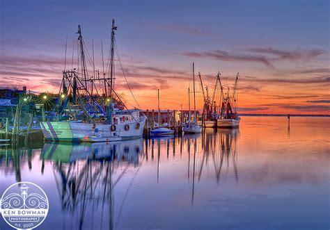 Shem Creek Shrimp Boats Sunset 2012. | Ken Bowman