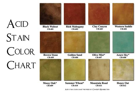 Concrete Stain Colors Home Depot Picture