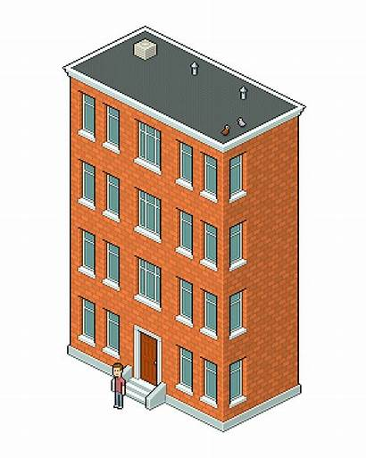 Pixel Apartment Building Isometric Photoshop Create Adobe
