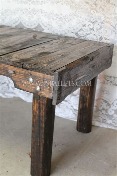 coffee table made out of pallet wood handmade wood pallet coffee table