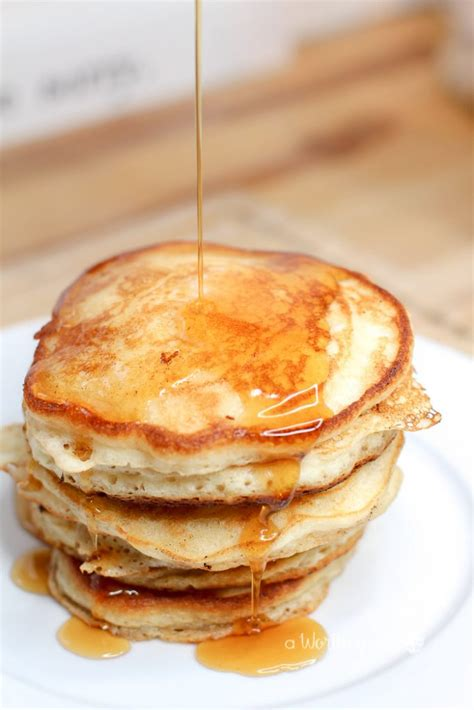 buttermilk cornmeal pancakes  worthey