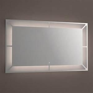 Miroir lumineux LED salle de bain, anti buée, 120x70 cm