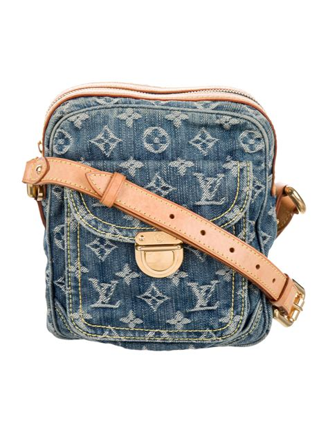 louis vuitton monogram denim camera bag handbags