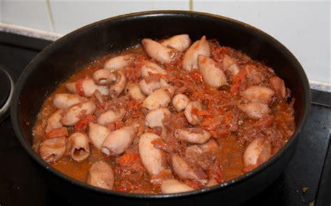 cuisiner encornet recette encornets à la tomate 750g