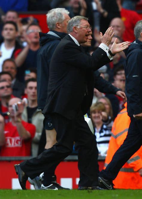 Alex Ferguson In Manchester United V Aston Villa Premier