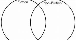Venn Diagram On Fiction Vs Nonfiction   Literature Vs