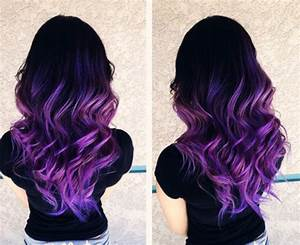 black lilac ombre hair | Tumblr