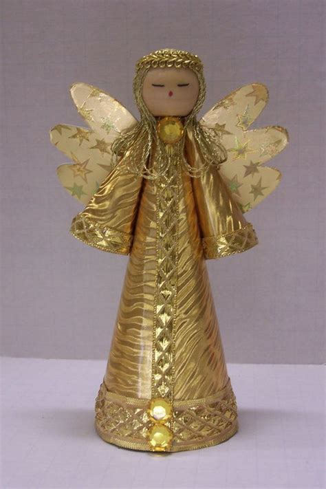 traditional style gold angel   christmas tree topper