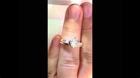 marquise diamond engagement ring wedding band wrap set