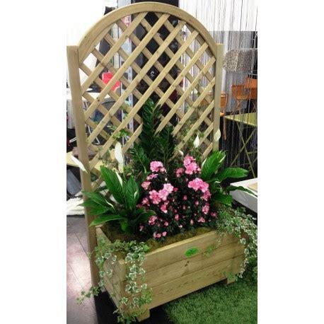 vasi in plexiglass grigliato in legno impregnato con fioriera e plexiglass