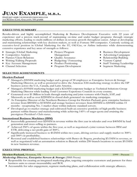 International Sales Marketing Manager Resume by Resume Sles Types Of Resume Formats Exles And