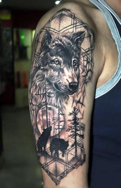 awesome wolf  sleeve tattoo idea wolf pack wolf tattoos men wolf tattoo sleeve wolf