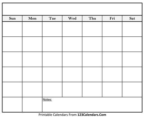 printable blank calendar calendarscom