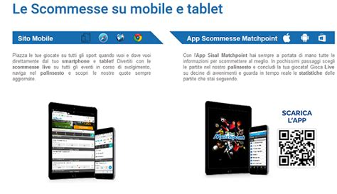 matchpoint sisal mobile sisal app matchpoint guida alle scommesse mobile con