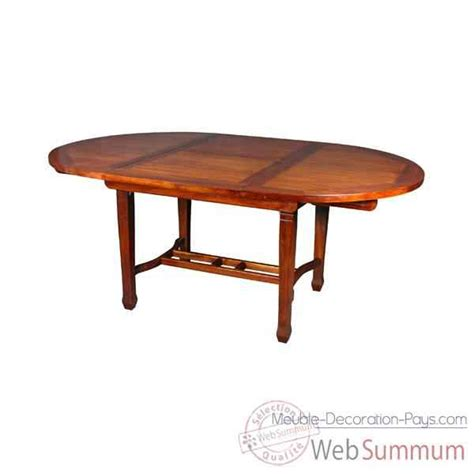 table ronde avec rallonge papillon meuble d indon 233 sie 54352p dans tables