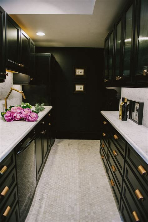 So decking your cupboards in plain straightforward black handles is an incredible method to refresh them you are viewing pictures of white cabinets with black hardware, picture size 475x708 posted by steve cash at march 17, 2018. The Well-Appointed Catwalk: 14 Glam Marble and Brass Interiors
