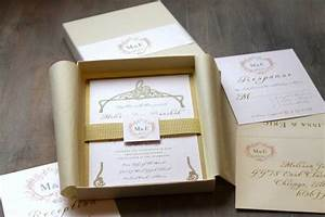 luxury elegant boxed wedding invitations gold white With cost of boxed wedding invitations