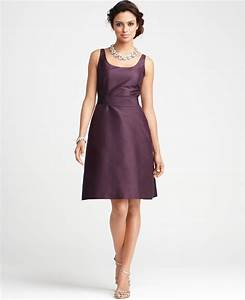 ann taylor at bridesmaid dresses silk dupioni scoop With ann taylor dresses wedding