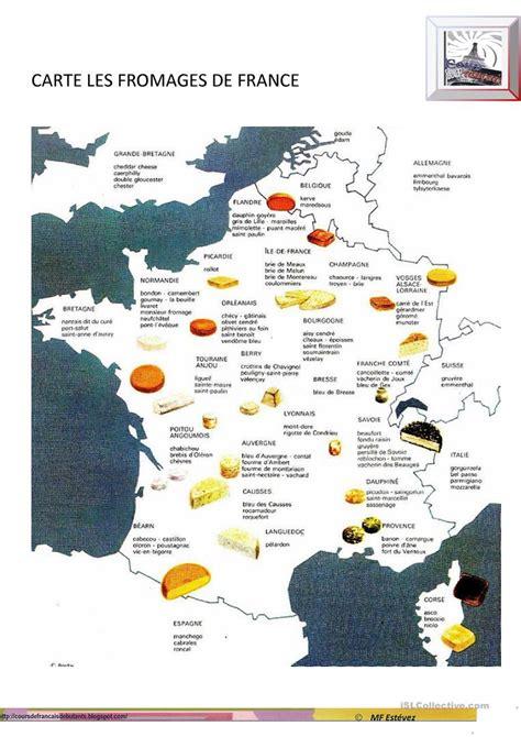 Carte Des Fromages De à Imprimer by Les Fromages De Fiche D Exercices Fiches