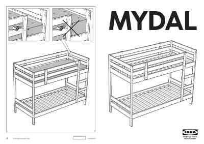 ikea mydal bunk bed frame twin furniture  user