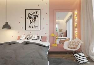 Rosa Grau Zimmer : jugendzimmer in rosa grau und wei gehalten wohnen kinder pinterest grau und wei rosa ~ Markanthonyermac.com Haus und Dekorationen