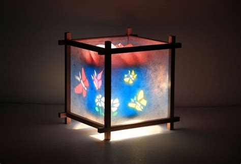 Butterfly Garden Kid's Spinning Table Lamp Night Light