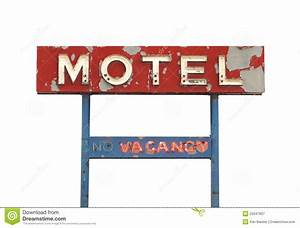 Old motel sign isolated. stock image. Image of worn, rooms ...