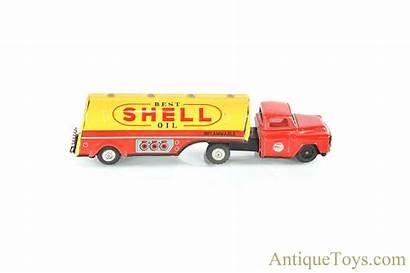 Momoya Shoten Toy Gasoline Tanker Lithographed Tin
