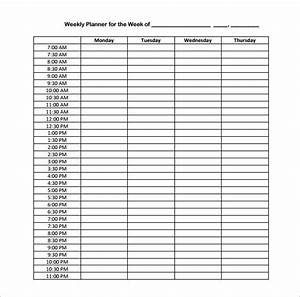 hourly schedule template 10 free sample example format With hourly appointment calendar template
