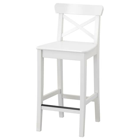 chaise ingolf ingolf bar stool with backrest white 63 cm ikea