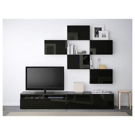 Ikea Besta Canada by Best 197 Tv Storage Combination Black Brown Selsviken High