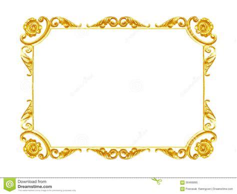 Ornament Elements, Vintage Gold Frame Floral Designs Stock