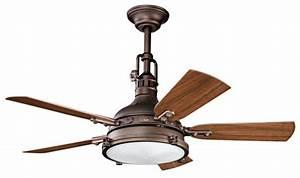 Rustic industrial ceiling fan decor