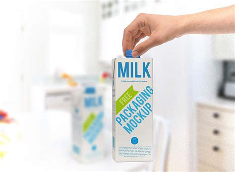 Milk Carton Box Mockup   MockupWorld