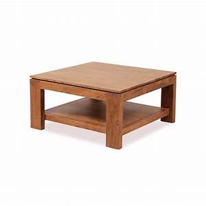 Table Basse Bois : table basse carr e bois guntur 90 cm 3505 ~ Teatrodelosmanantiales.com Idées de Décoration