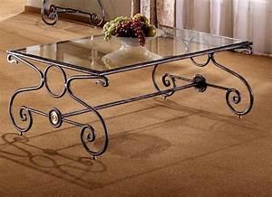 table de salon rectangulaire luberon en fer forge mel22 With table salon fer forge