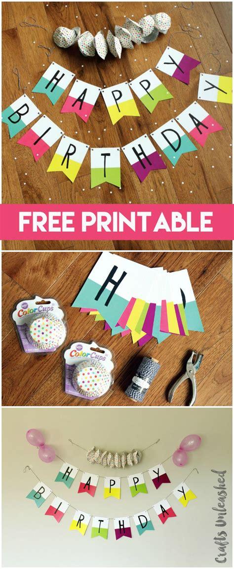 printable banner happy birthday pennants consumer