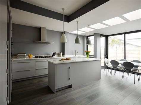 gray kitchen floors with oak cabinets 30 gorgeous grey and white kitchens that get their mix right