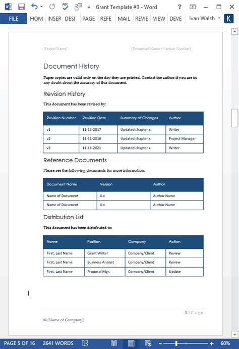 grant template grant templates ms word free excel spreadsheet