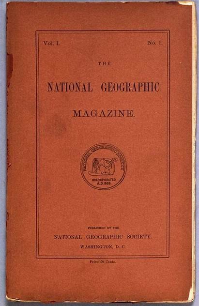 Geographic National Magazine 1888 Issue Published Society